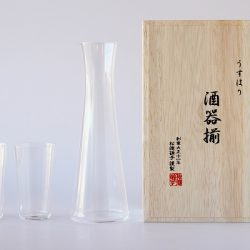 Usuhari Sake Set 1 Tokkuri + 2 Tumblers