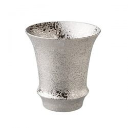 silver sake glass