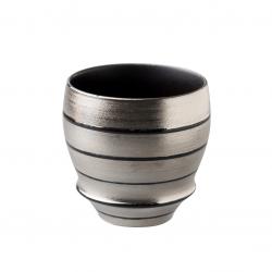 Arita Ware SAKE CUP Silver Black