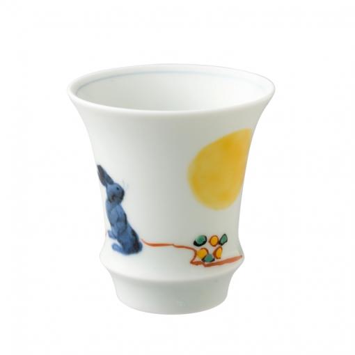 sake glass moon&rabbit