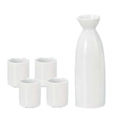 Mino Ware Sake Set White