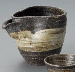 Shigaraki Ware Sake Set Grey Brushstrokes
