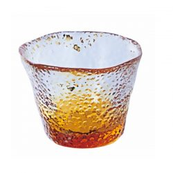 Glass Sake Cup Golden Sky