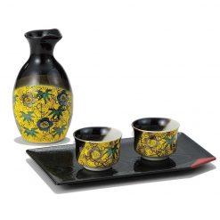 Kutani Ware Sake Set Yoshidaya