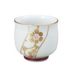 Kutani Ware Sake Cup Gold White Dot