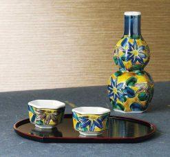 Kutani Ware Sake Set Yoshidaya Gourd