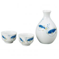 Kutani Ware Sake Set Pufferfish