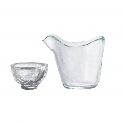 Heat-resistant Glass Katakuchi Sake Set
