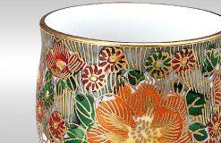 Kutani Ware Sake Cup Flower