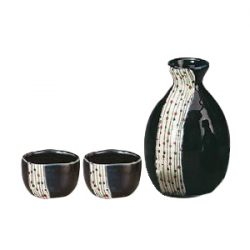 Mino Ware Sake Set Ball Blind