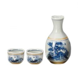 Mino Ware Sake Set Mountain
