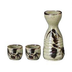 Mino Ware Sake Set Masuko Bamboo