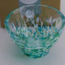 Glass Sake Cup Asian Skunk Cabbage