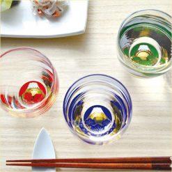 Sake Glass 3 Pieces Set Fuji