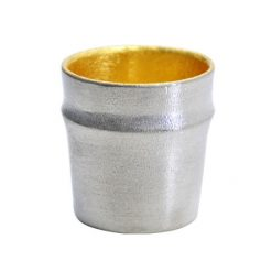 Nousaku Tin Sake Cup Guinomi Bamboo Gold