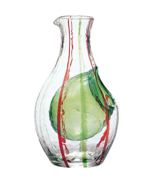 cold-sake-carafe-green-red-stripes