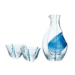 Cold Sake Set Blue Stripes