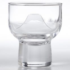 Kiriko Ochoko Clear Sake Glass Fuji Pine