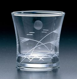 Kiriko Guinomi Clear Sake Glass Moon