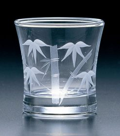 Kiriko Guinomi Clear Sake Glass Bamboo