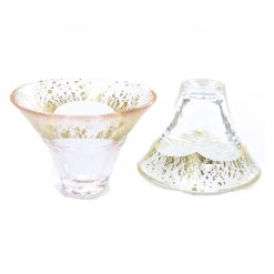 Sakazuki Sake Glass Set Fuji Pink White