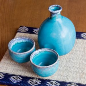 Sake Set Turkey Blue Ball