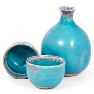 sake set turkey blue