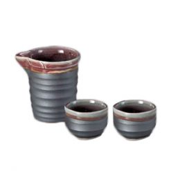 Katakuchi Sake Set Black & Brown