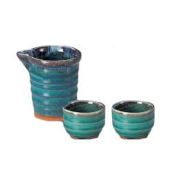 Katakuchi Sake Set Turkey Blue