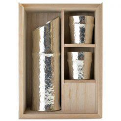 Nousaku Tin Sake Set Bamboo