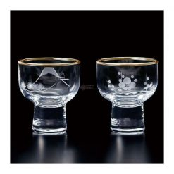 Edo Kiriko Clear Sake Glass Set