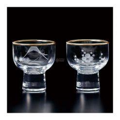 Edo Kiriko Clear Sake Glass Set