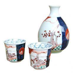 Arita Ware Sake Set Old Imari