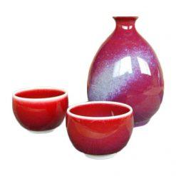 Arita Ware Masterpiece Sake Set Cinnabar