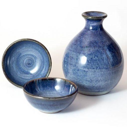 arita navy sake set