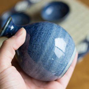 Arita Ware Sake Set Navy