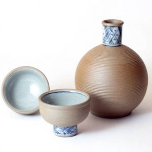 Arita Waare Sake Set Stripes