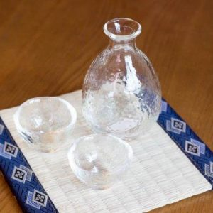 heat resistant glass sake set