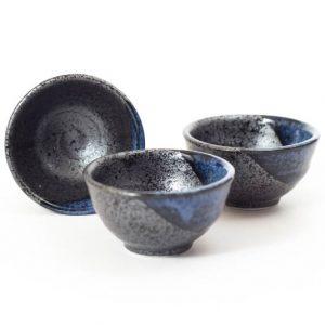 Mino Ware Sake Cup Blue Stream
