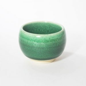 Mino Ware Sake Cup Green