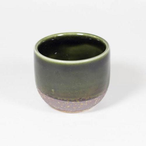 green oribe sake cup