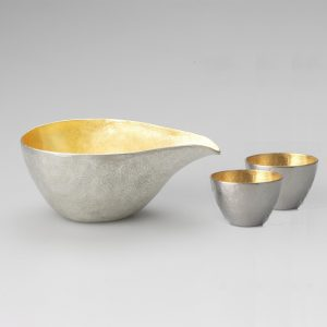 Nousaku Tin Sake Set Gold