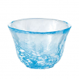 Glass Sake Cup Light Blue