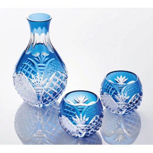 Edo Kiriko Sake Set Akio Kimura Design