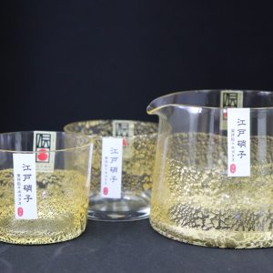 Edo Glass Kinhari Sake Set