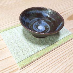 Grey Swirl Sakazuki Sake Cup