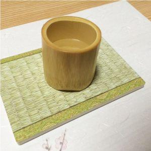 Bamboo Sake Cup White