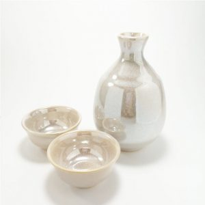Sake Set White Rainbow