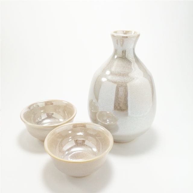 White Rainbow Sake Cup