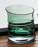 Glass sake cup bamboo